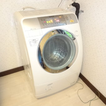 ドラム式洗濯機設置しました